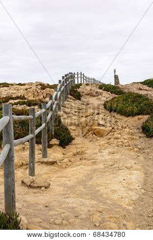 Fence On Path, Cabo Da Roca, Sintra (portugal)