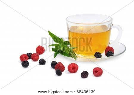 Tea With Raspberry And Blackberry And Spearmint