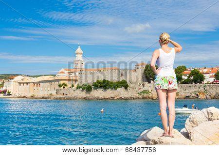 Krk town, Mediterranean, Croatia, Europe