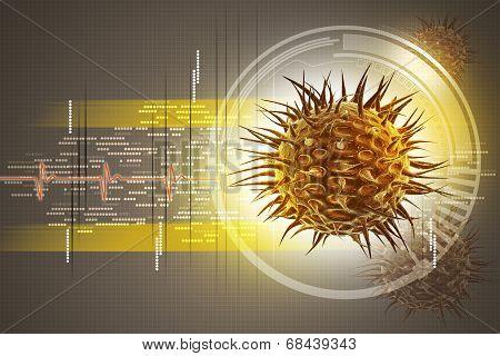 virus 3d image