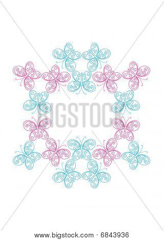 Abstract butterfly frame
