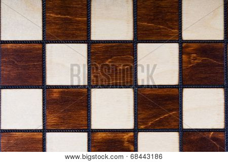 Wooden checkerboard background