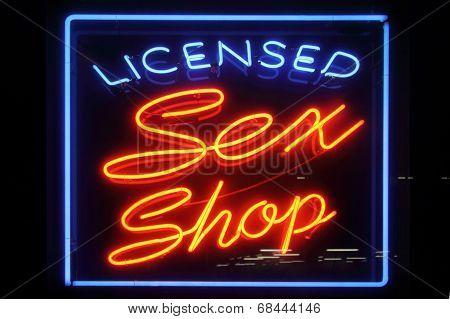 licensed sex shopsign