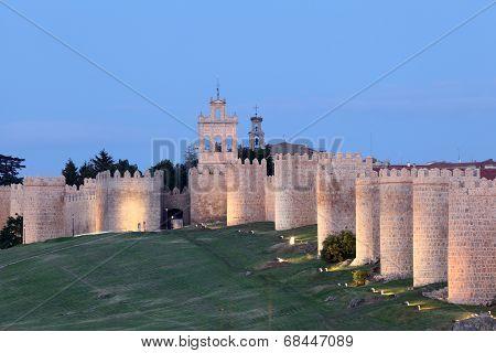 Medieval City Walls Of Avila, Spain