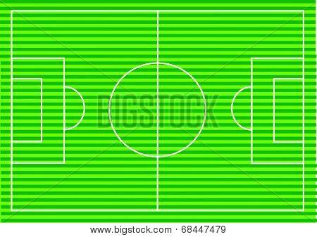 Soccer field or Football textured grass field