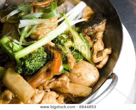 Shrimp Chicken Pan Asian Thai Food