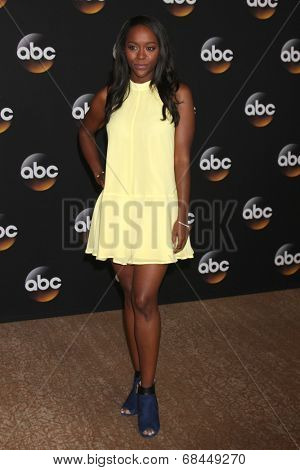LOS ANGELES - JUL 15:  Aja Naomi King at the ABC July 2014 TCA at Beverly Hilton on July 15, 2014 in Beverly Hills, CA