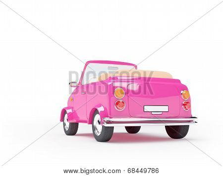 pink small car back