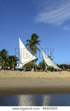 Beach With Boats, Pititinga (brazil)