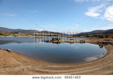Burguillo Reservoir In Iruelas Valley, Spain