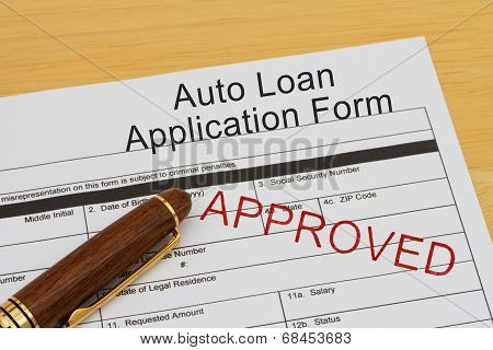 Auto Loan Application Form