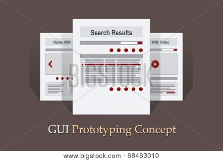 Internet Site Map Navigation Structure Prototype vector