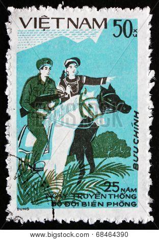 Postage Stamp Vietnam 1984 Frontier Forces