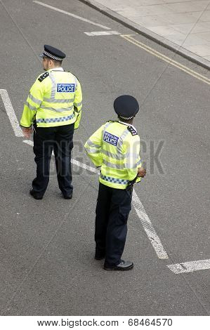London Police on the Street