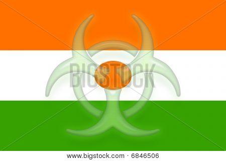 Flag Of Niger Health Warning