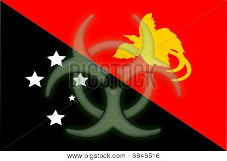 Flag Of Papua New Guinea Health Warning