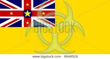 Flag Of Niue Health Warning