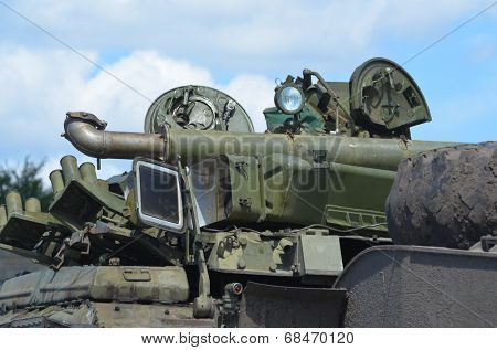 KIEV, UKRAINE - JULY 13, 2014. Weapon of the Civil War in Ukraine. July 13, 2014 Kiev, Ukraine
