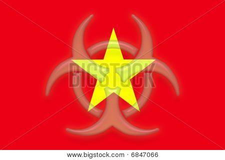 Flag Of Vietnam Health Warning