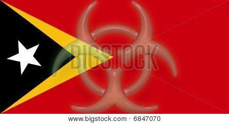 Flag Of Timor-leste Health Warning