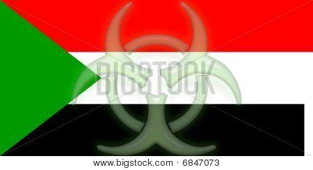 Flag Of Sudan Health Warning
