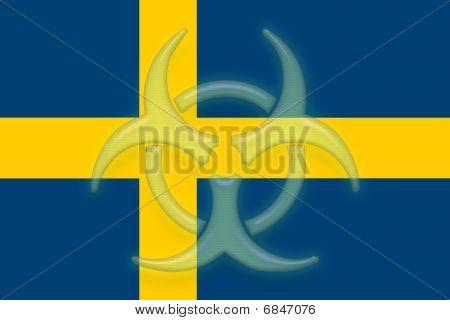 Flag Of Sweden Health Warning