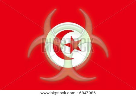 Flag Of Tunisia Health Warning