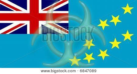 Flag Of Tuvalu Health Warning
