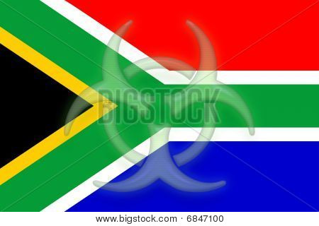 Flag Of South Africa Health Warning