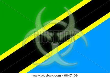 Flag Of Tanzania Health Warning