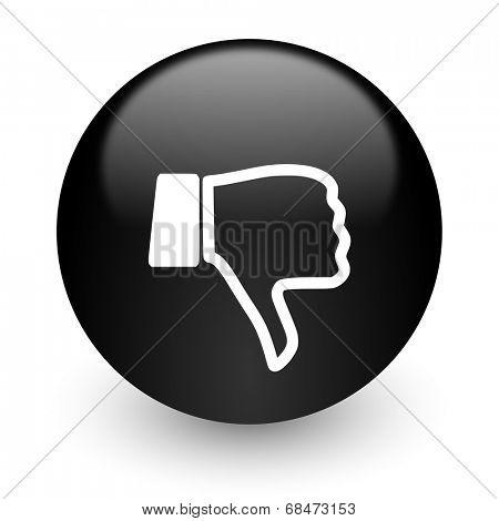 dislike black glossy internet icon