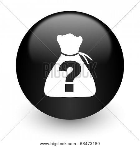 riddle black glossy internet icon