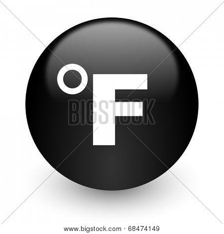 fahrenheit black glossy internet icon