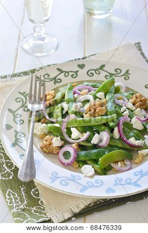 Green Bean, Walnut, and Feta Salad