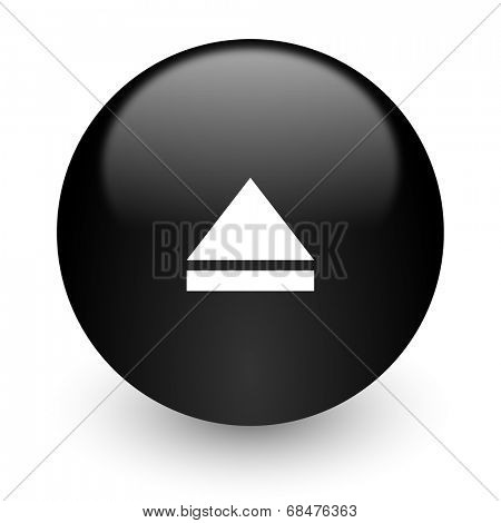 eject black glossy internet icon