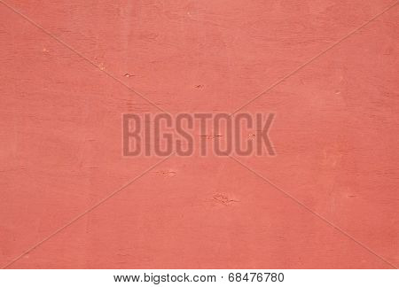 Texture Of  Plywood Covered With Pink Paint Chips