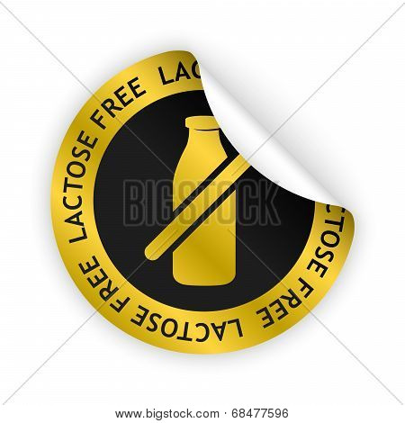 Lactose Free Bent Sticker