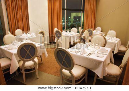Empty Restaurant Seating
