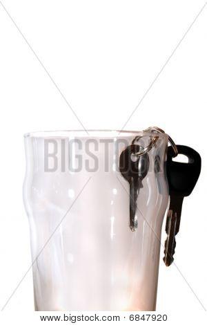 Car Keys In Pint Glass