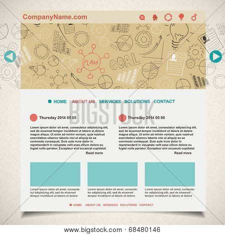 Creative idea website template, vector