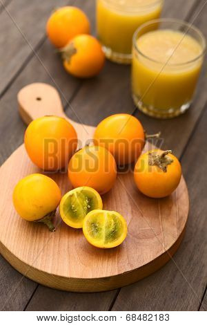 Naranjilla or Lulo Fruits