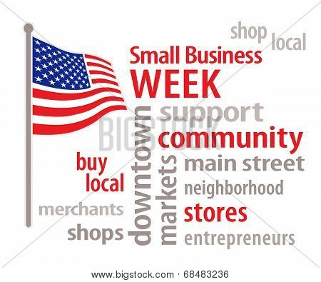 Small Business Week, American Flag