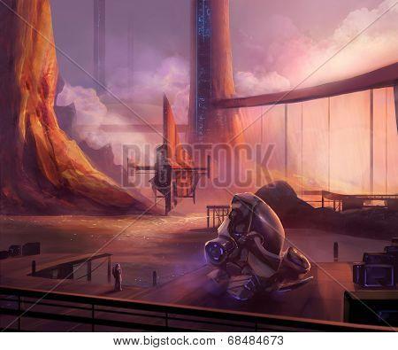 Futuristic docks