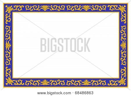 Colorful Floral Border