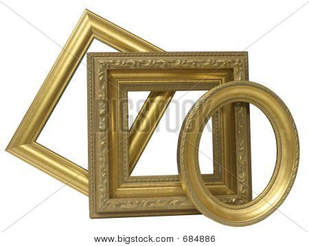 Gold Mini Picture Frames
