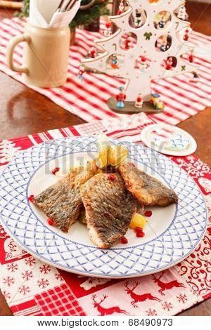 carp for traditional polish christmas eve