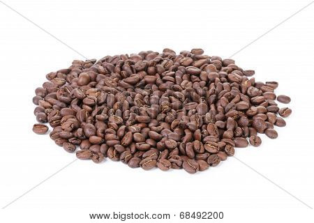 Heap Of Freshly Roasted Arabica Coffee Beans