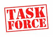 foto of tasks  - TASK FORCE red Rubber Stamp over a white background - JPG