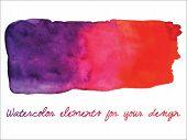 foto of dab  - Vector watercolor gradient stripe - JPG
