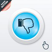 foto of dislike  - Dislike sign icon - JPG